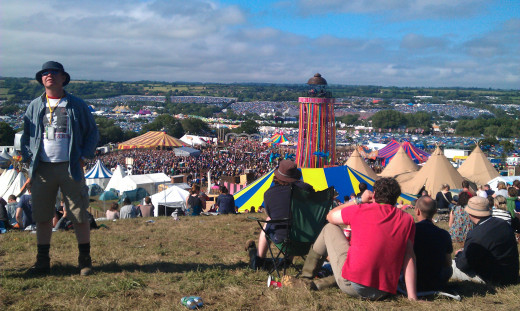 Glastonbury Music Festival, the biggest festival in England!