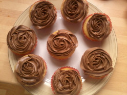 iced with chocolate butter cream using a rose tip nozzle 1m Closed tip.