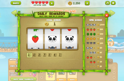 Panda Jam Tips: Daily Rewards