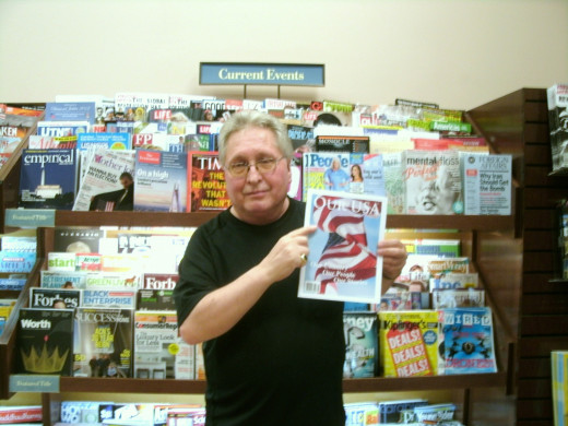 That's me holding up a copy of Our USA Magazine, featuring one of my stories in their premier launch at all Barnes & Noble and Book World stores.