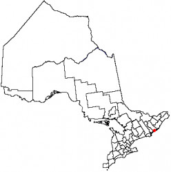 Map location of Kingston, Ontario