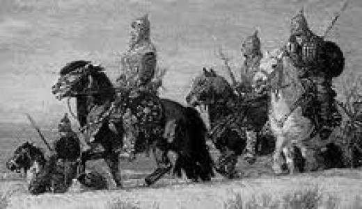 Wendish warriors riding to battle; like their Scandinavian and German neighbours the Wends rode to battle but fought on foot. They didn't believe in wearing themselves out before an engagement, and on horseback they could take their enemies off-guard