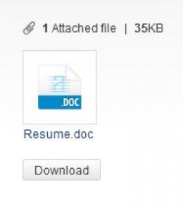 It's easy to attach files to emails.