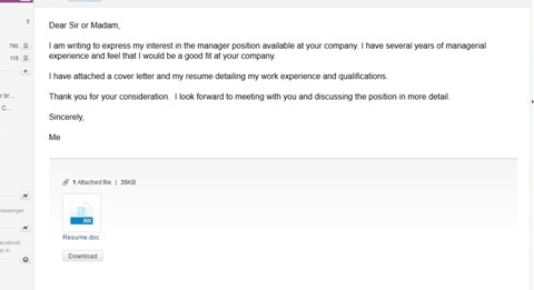 This email looks professional with easy to read formatting and correct use of grammar and spelling.