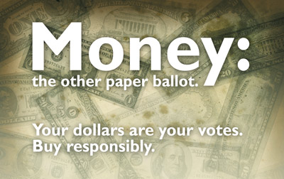 Money: The new other paper ballot.