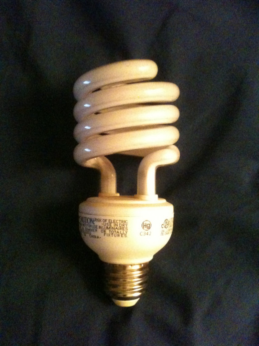 Compact fluorescent light bulbs like these use about one-fourth the energy as traditional incandescent bulbs to produce the same amount of light.