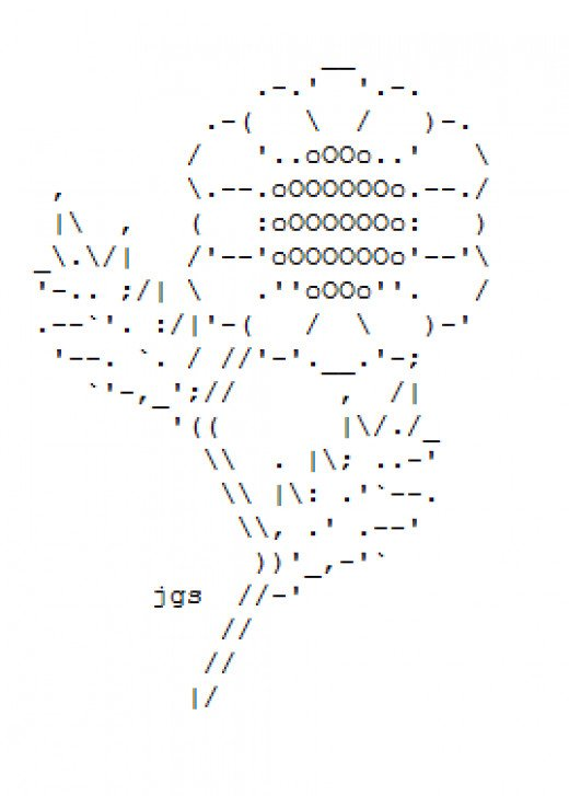 One Line Ascii Art Copy Paste : Flower ascii