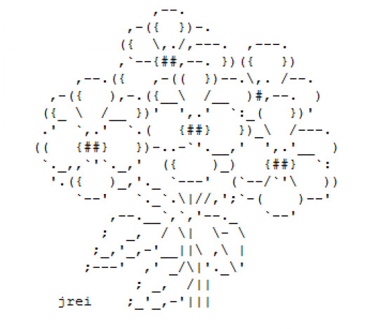 One Line Ascii Art Copy Paste : Small flower ascii art facebook wroc awski informator