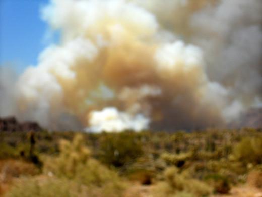Recent fire near Superior, Arizona 6/9/2012
