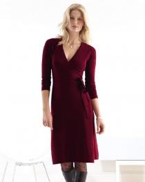Wrap Dress 100% cashmere, Price: $328.00