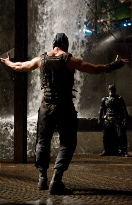Bane famously broke Batman's back in the comic book world, how will Batman stand up against a threat like none other he has faced before. See how confident Bane is against a very weak Dark Knight who has yet to 'rise'