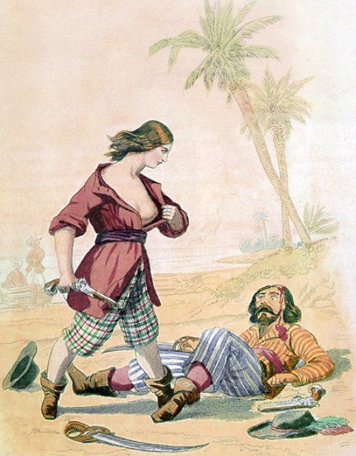Mary Read was one of the first female pirates, she liked her victims to know that they were defeated by a woman.