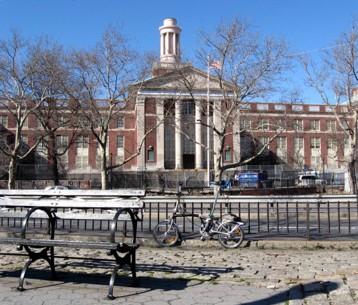 This was the actual High School that I had attended in New York City, it has a 95% graduation rate, and has the highest success rate for school's in the City to send students to college, and ever since I went back in 1989.