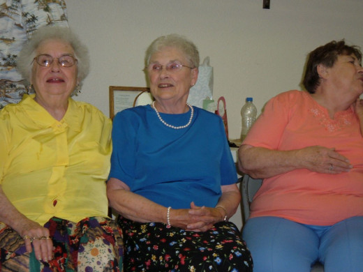 Three of the original grannies - my aunties who will tell you right from wrong.