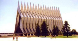 Amazing chapel at the U.S. Air Force Academy in Colorado Springs.