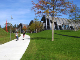 The Paul Klee Art Center is situated just outside the city of Berne in a large open area