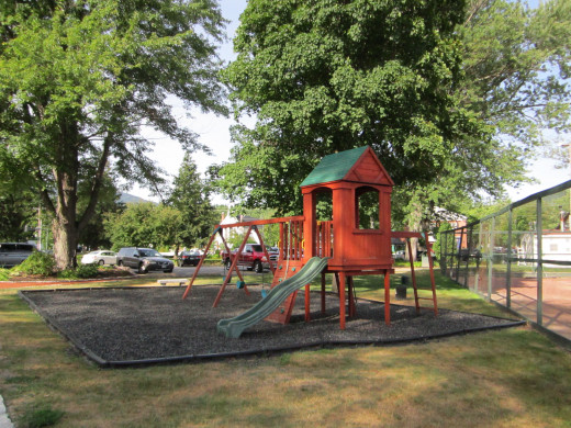 A safe and Newly Renovated Park on the property for your children to play in!