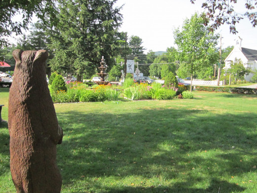 Beautiful Gardens all around the property at the Eastern Slope Inn Resort!