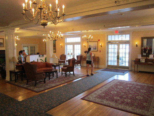 The Lobby Entrance at the Eastern Slope Inn Resort.