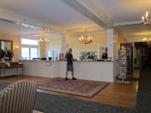 The Front Desk and Concierge in the Lobby of the Eastern Slope Inn Resort. A very helpful and friendly staff awaits you!