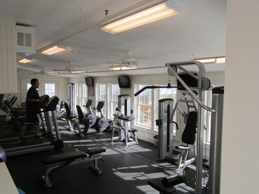 Brand New Exercise Machines make up the Fitness Center at the Eastern Slope Inn Resort! No excuses not to work out!