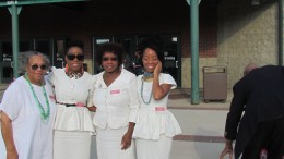 My daughters, their grandmother and I, all wore white on Sunday without planning for it.