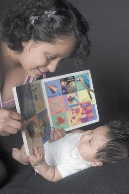 Reading starts at infancy stage.