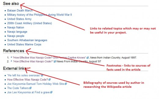 Example of Source Listing in a Wikipedia Article