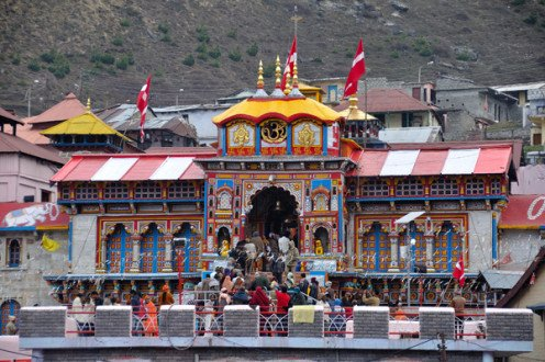 The temple shrine at Badrinath