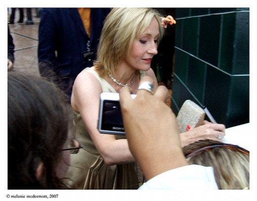 J.K. Rowling at premiere of Harry Potter and the Order of the Phoenix