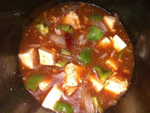 Paneer in Hot Garlic Sauce