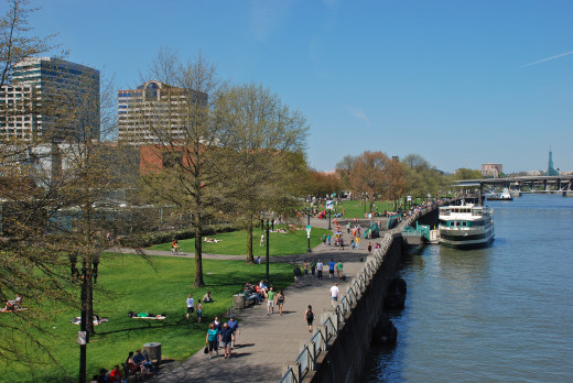Take a riverboat cruise at Waterfront Park, from Hawthorne Bridge.