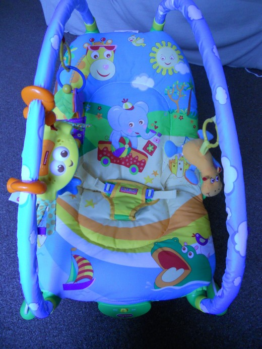 This bouncy chair with associated toys is great for engaging baby and keeping her safe whilst mum/dad needs to nip to the loo or answer the phone. Try and get one that will last as your baby grows, and that can be used from birth.