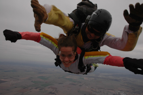 . . . and some women like to skydive!