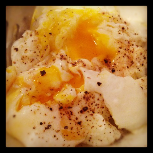 Poached Egg up close