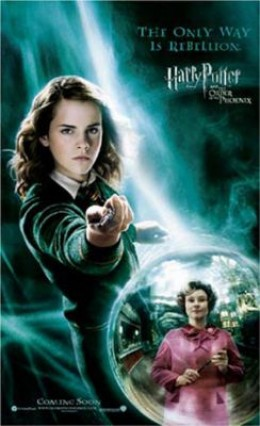 Hermione Harry Potter and the Order of the Phoenix movie poster with Emma Watson