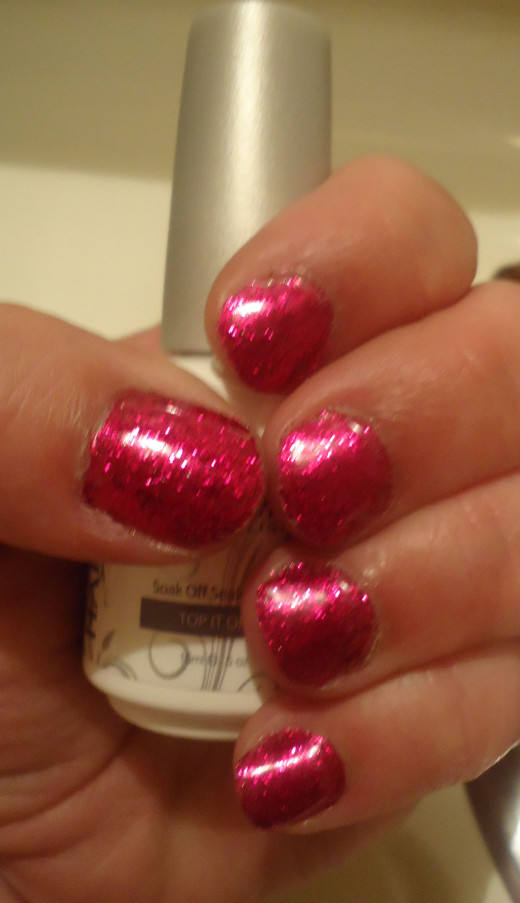 Soak Off Gel Glitter Nails