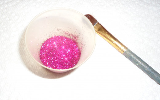 Glitter in a plastic cup