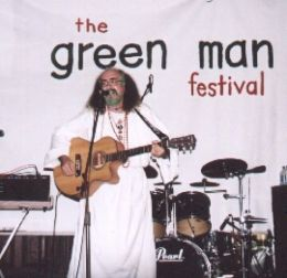 Bard of Ely at the first Green Man Festival 2003. Photo by Viv Thomas