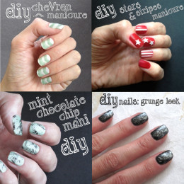 Nail art design ideas and step-by-step tutorial instructions for cool unique manicures.