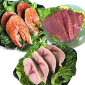 cold water fishes like salmon, mackerel, tuna and sardines rich in omega-3 fatty acids.