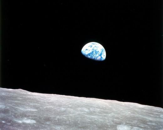 Not strictly a probe, Apollo 8 was the first manned mission to the Moon. The astronauts snapped this iconic image of our fragile, blue ocean world