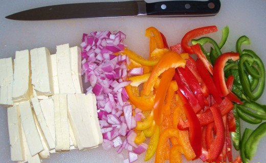 A rainbow of beautiful ingredients