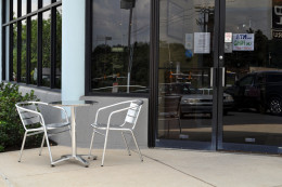 Outdoor seating is available.