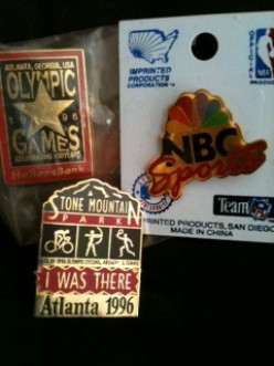 Olympic Pin Trading at Rio! 20 Years of Memories of 1996 Atlanta Olympics Pin  Trading Gives Way to Rio