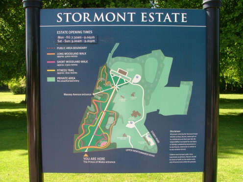 Map of the Stormont Estate.