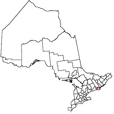 Map location of Belleville, Ontario