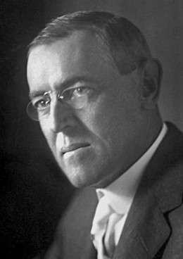 Woodrow Wilson ran for president right before WWI.