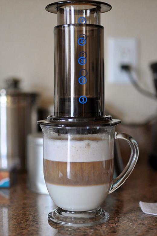 aeropress latte