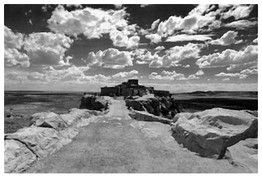 This was how the Hopi Mesa road looked as we approached the kids home destination